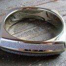 Chunky Gold Silver Metallic Plastic Square Bangle Bracelet Fashion Jewelry Sz 8
