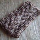 Brown Knit Headband Wrap Ear Warmer Wide Thick Fashion Hair Accessory