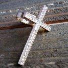 Large Gold Tone Cross Rhinestones Statement Ring Fashion Jewelry Adjustable