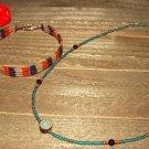 Vintage Jewelry Lot Seed Bead Necklace Bracelet Earrings Ring Orange Green Purple