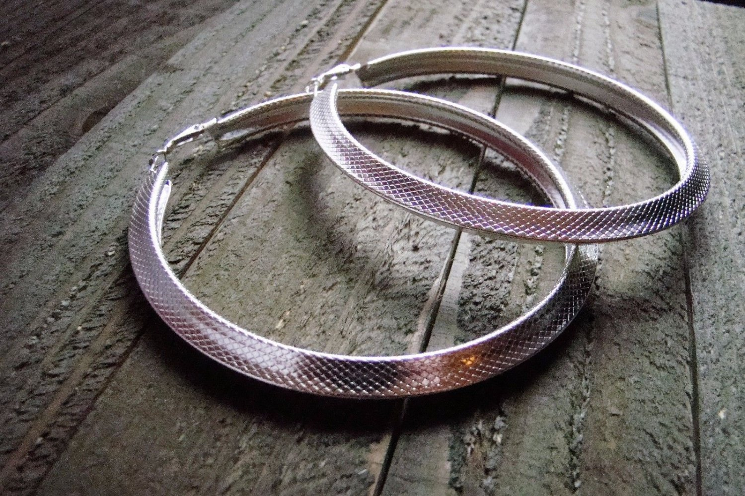 """4"""" Extra Large Silver Tone Hoop Earrings Lever Back Fashion Jewelry Pierced"""