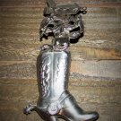 Boot Spur Rodeo Cowboy Horse Silver Tone Hair Clip Cowgirl Fashion Accessory