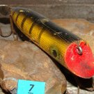 Vintage Gilmore Hoodler Yellow Black Striped Fishing Lure Bait Tackle Wood 4""