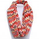 Multi-Color Chevron ZigZag Polyester Infinity Scarf Cowl Fashion Accessory Light Weight