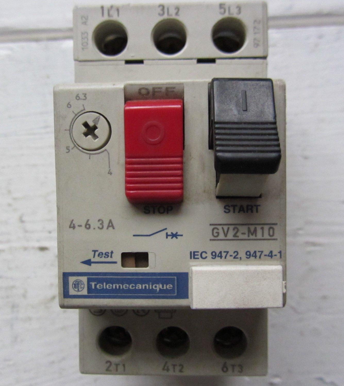 Telemecanique motor protector circuit breaker gv2 m10 for Circuit breaker for 7 5 hp motor