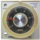 Omron H3BH-8 24 VDC H3BH8 0.5 sec - 10 Sec. On Delay Timer 250 VAC 5 A Contact