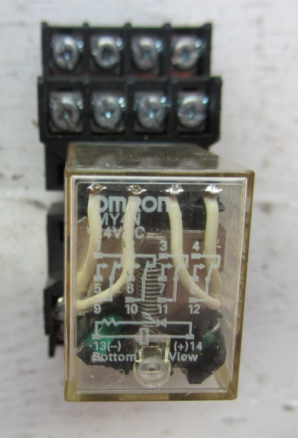 Omron My4n My4n Dc24 14 Blade 4pdt Relay W Base 24 Vdc 5