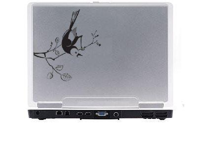 Bird on branch Laptop Vinyl Decal
