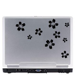 Flowers Laptop Vinyl Decal