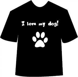 I Love My Dog (Paw) T-shirt