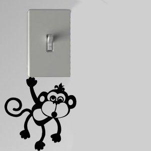 Crazy Monkey Light Switch Wall Art Decal