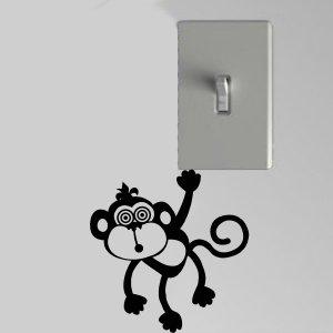 Hypnotic Monkey Light Switch Wall Art Vinyl Decal