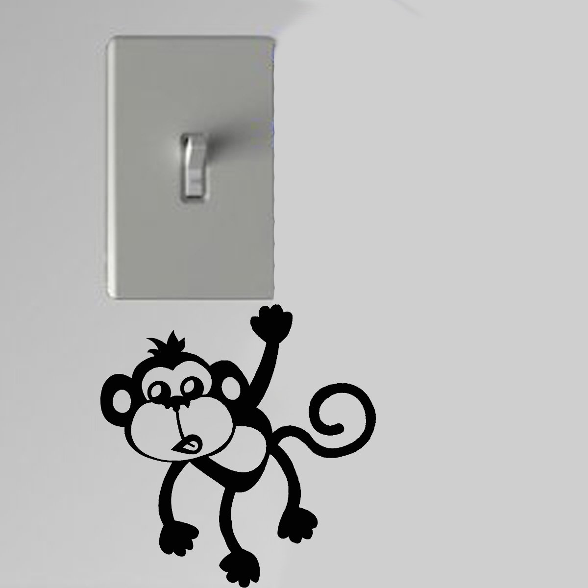 Monkey Sticking Out Tongue Light Switch Wall Art Vinyl Decal