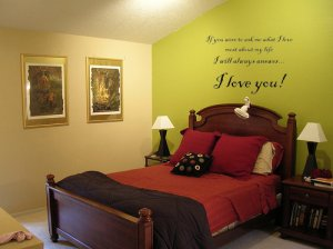 I Love You! Quote Wall Art Vinyl Decal