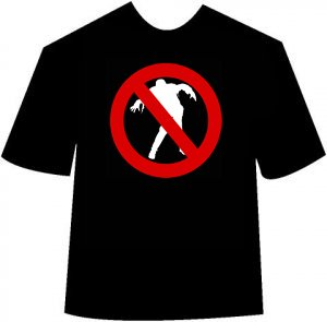 Funny Anti-Zombie T-shirt