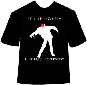 Funny Zombie Target Practice T-shirt