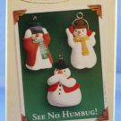 See No Humbug!  Set of 3 Ornaments