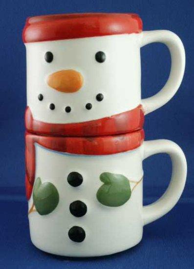 Stackable Snowman Mugs (Set of 2)