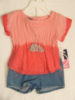 Shirt & Jean Shorts Set