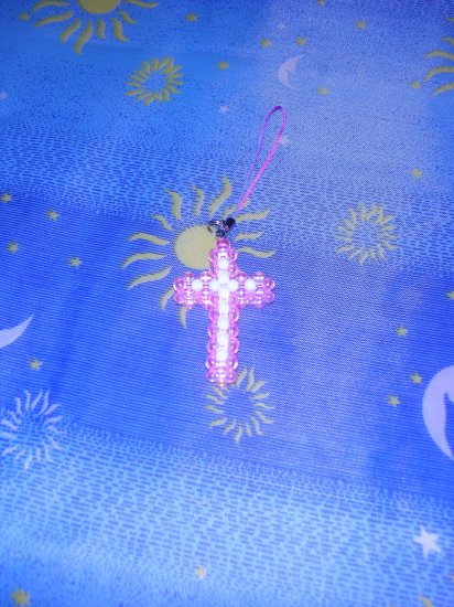 Pink & White Cross (D.I.Y)