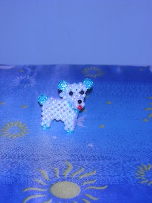 Little Doggie - White & Blue