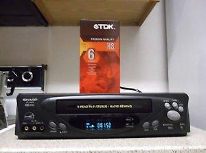 Refurbished Sharp VC-H810U 4 19U Heads S-VCR With Rapid Rewind & Menu Set Button