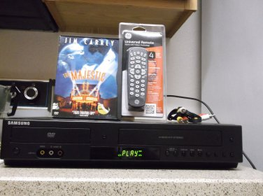 Refurbished Samsung DVD-V9800 HDMI VCR/DVD Combo Player With 4-1 Remote/ & 1 DVD