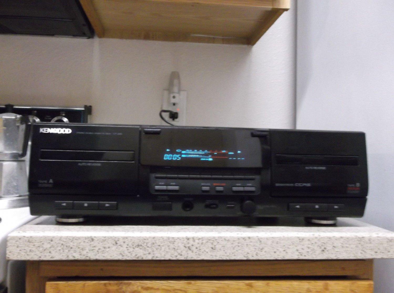Refurbished KenWood CT-405 4 Head Dual Cassette Dolby B-C NR CCRS Processor Deck