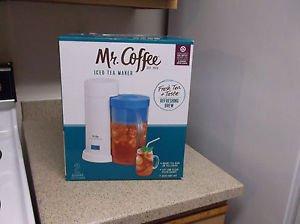 New Blue Mr. Coffee Iced Tea Maker TM1 Electric 2 Quart 10 Minute Fresh Tea Brew