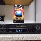 /Refurbished Sharp VC-H993 4 19U Heads S-VCR W/Rapid Rewind/ Menu Set & VHS Tape