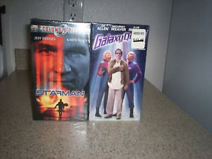 $0 Shipping With Brand New Sealed Star Man Columbia Pics & GalaxyQuest VHS Tapes