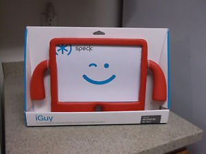 $0-Ship With Speck Red iGuy Case & Stand To Fit iPad Air 2, 1) For Kids & Adults