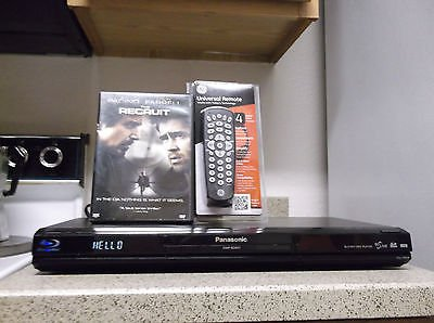 Refurbished Panasonic DMP-BD601 3D Blu-Ray Player W/Internet/ 4-1 Remote & Movie