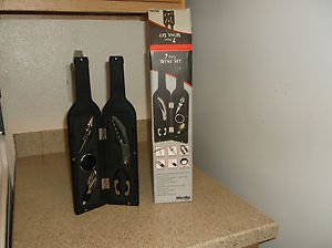$0-Ship W/Worthy Wine Bottle 7 Piece Wine Set Opener Corkscrew Kit Bottle Opener