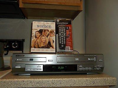 $0-Ship W/Refurbished Go Video DVR4400 VCR/DVD Combo Player W/4-1 Remote & 1 DVD