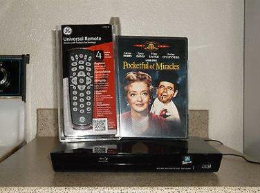 $0-Ship W/Refurbished Sony BDP-S3200 1080P Blu-Ray Player W/4-1 Remote & 1 Movie