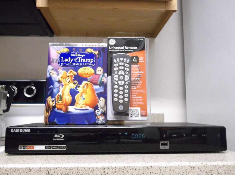 $0-Ship W/Refurbished SamSung BD-P1590 Upscale Blu-Ray Player W/Remote & 1 Movie