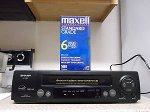 $0 Ship W/Refurbished Sharp VC-B811 4 19U Heads S-VCR W/Sharp Picture & Menu Set