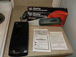 $0-Ship W/ Refurbished GE Slimline RW25201 VHS One-Way Rewinder & Service Manual