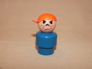 Plastic Blue Mad Boy With Cap