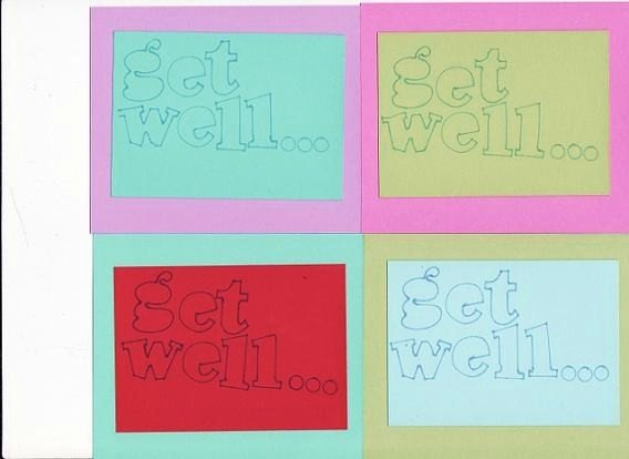 Set of 8 Get Well... Postcards Pastel