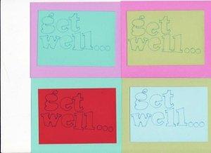 Set of 8 Get Well... Postcards Pastel