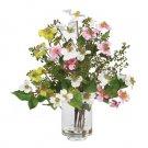 Dogwood Silk Flower Arrangement Pastels
