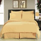 Solid Gold 8-Pc Bedding Set Super Soft Microfiber Sheets+Duvet+Alternative Full or Queen