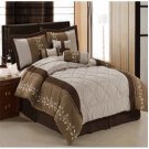 Port Creek Micro suede 7-Piece comforter set Queen
