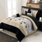 Lama Floral Luxury 7-Piece comforter set Queen