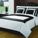 White & Black Hotel Down Alternative Bed in a bag Queen 10pc