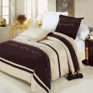 Clarice Egyptian cotton Embroidered Duvet Cover Set Full/Queen