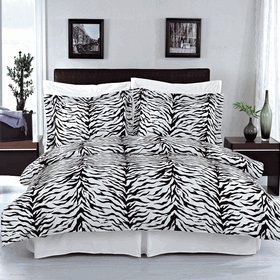 Zebra 100% Egyptian cotton Duvet cover set King/Cal King