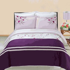 Cherry Embroidered Multi-Piece Duvet Set Egyptian Cotton Full/Queen